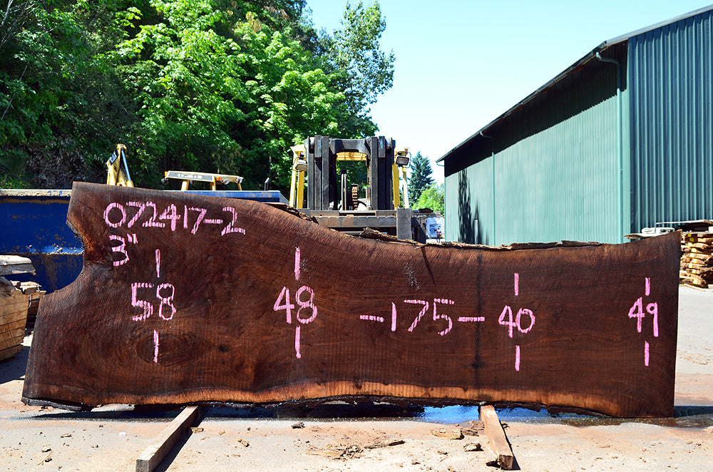 Oregon Black Walnut Slab 072417-02