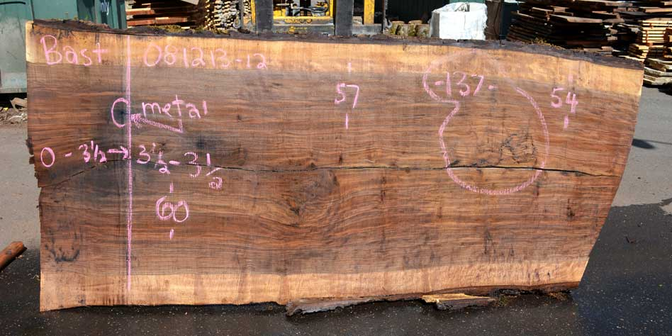 Bastogne Walnut Slab 081213-3