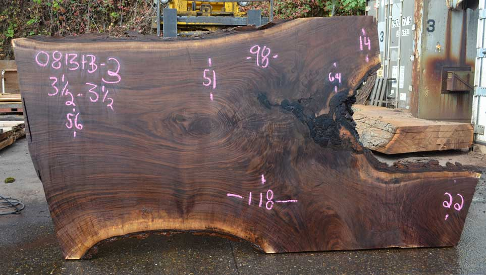 Oregon Black Walnut Slab 081313-03