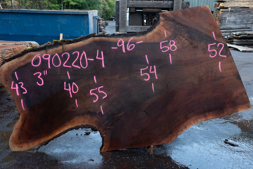 Oregon Black Walnut Slab 090220-04
