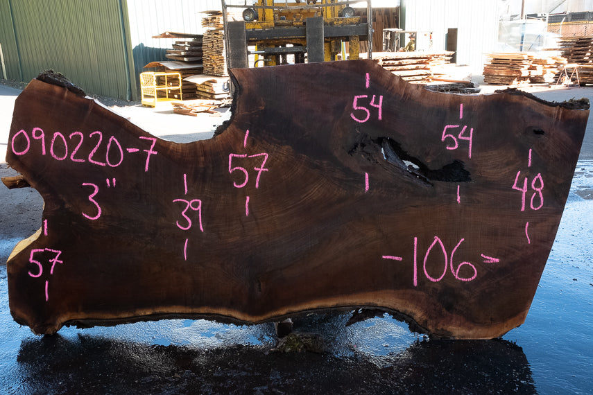 Oregon Black Walnut Slab 090220-07