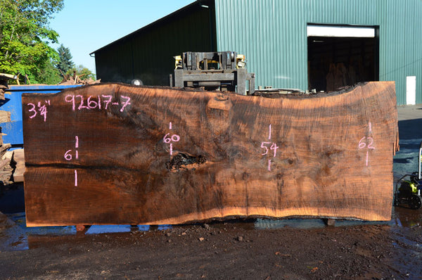 092617-07 Oregon Black Walnut Slab