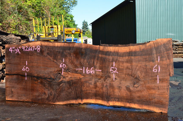 092617-08 Oregon Black Walnut Slab
