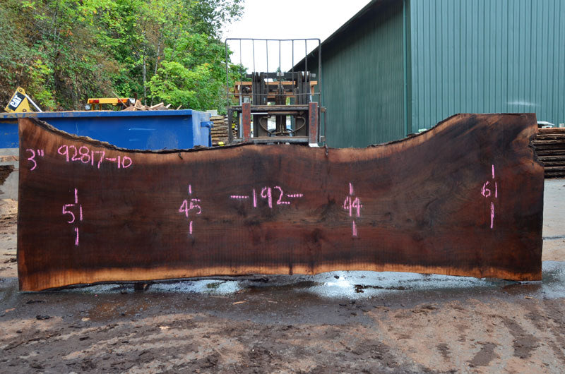 Oregon Black Walnut Slab 092817-10