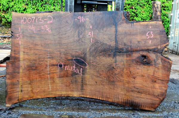 Oregon Black Walnut Slab 100713-02