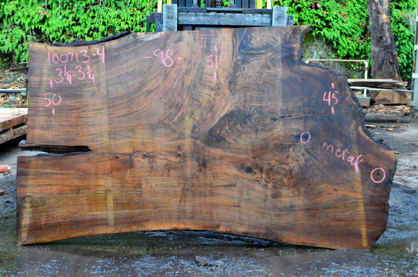 Oregon Black Walnut Slab 100713-04
