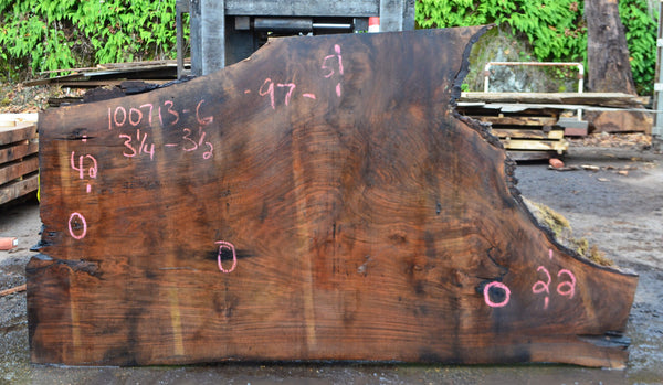 Oregon Black Walnut Slab 100713-06