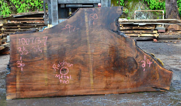 Oregon Black Walnut Slab 100713-07