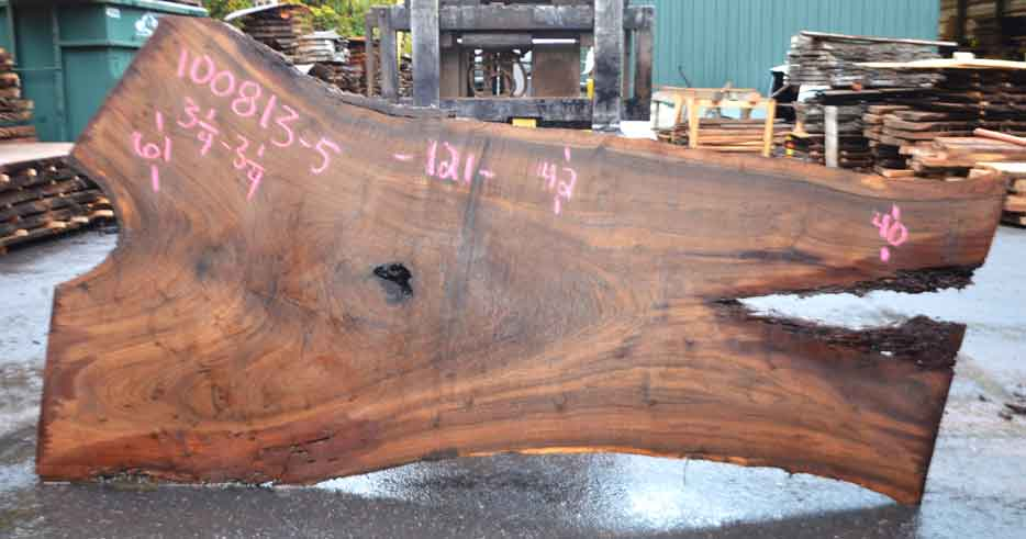 Oregon Black Walnut Slab 100813-05
