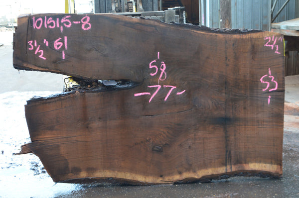 Oregon Black Walnut Slab 101515-08