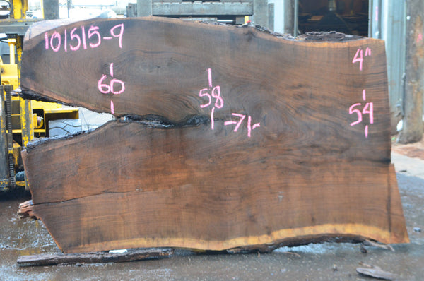 Oregon Black Walnut Slab 101515-09