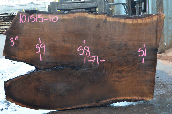Oregon Black Walnut Slab 101515-10