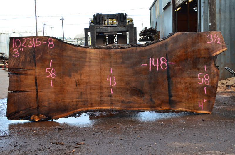 Oregon Black Walnut Slab 102315-08