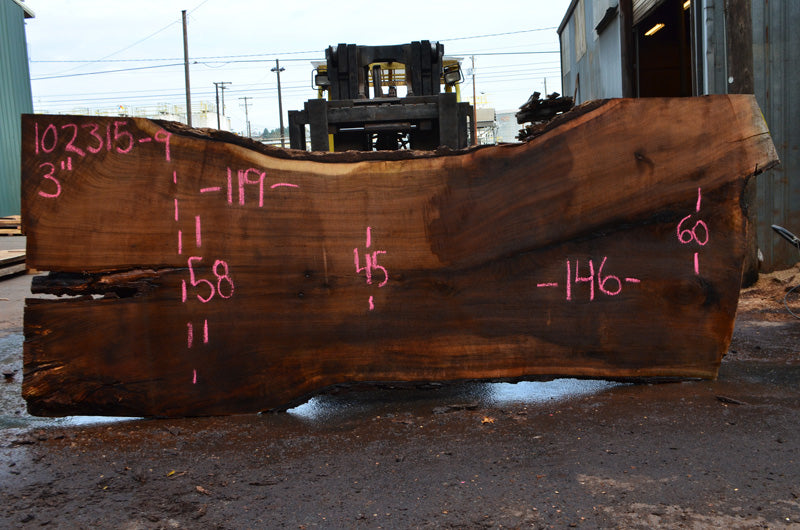 Oregon Black Walnut Slab 102315-09