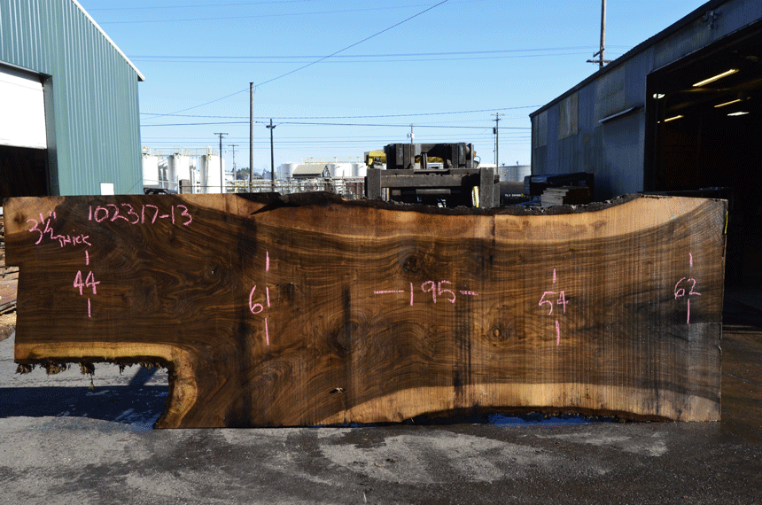 Oregon Black Walnut Slab 102317-13