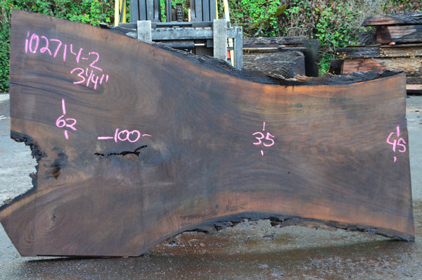 Oregon Black Walnut Slab 102714-02