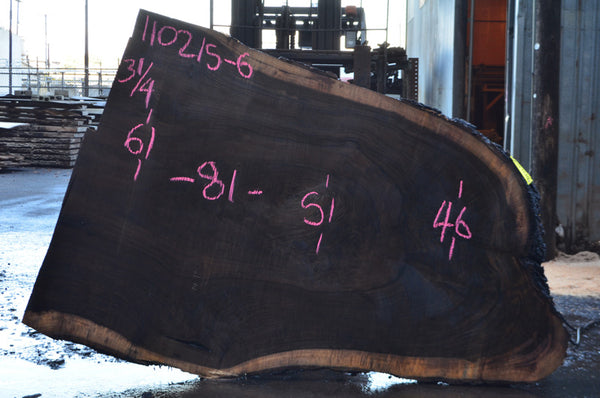 Oregon Black Walnut Slab 110215-06