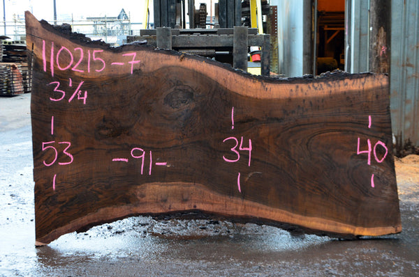 Oregon Black Walnut Slab 110215-07