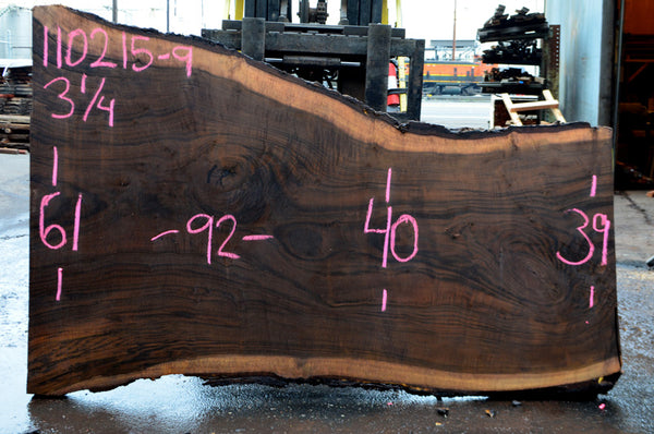 Oregon Black Walnut Slab 110215-09