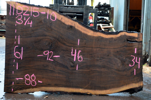 Oregon Black Walnut Slab 110215-10