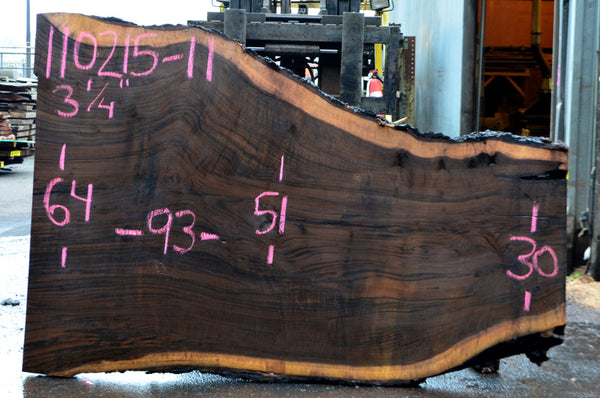 Oregon Black Walnut Slab 110215-11