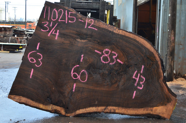 Oregon Black Walnut Slab 110215-12