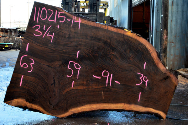 Oregon Black Walnut Slab 110215-14