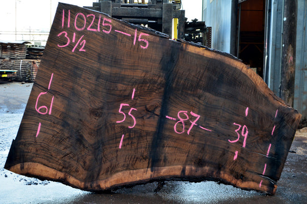 Oregon Black Walnut Slab 110215-15