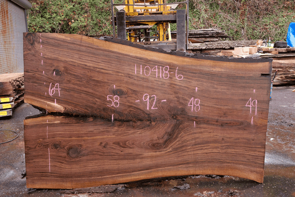 110418-06 Oregon Black Walnut Slab