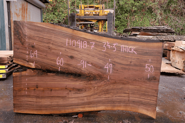 110418-07 Oregon Black Walnut Slab