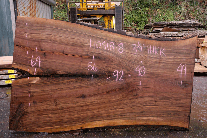 110418-08 Oregon Black Walnut Slab