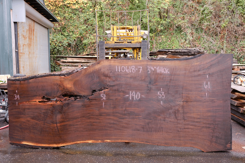 110618-06 Oregon Black Walnut Slab