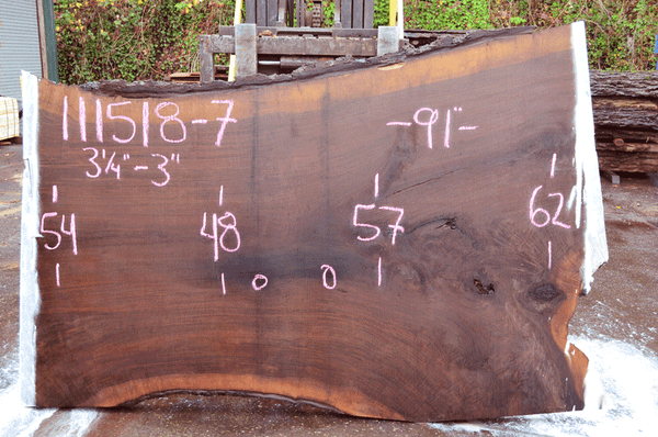 111518-07 Oregon Black Walnut Slab