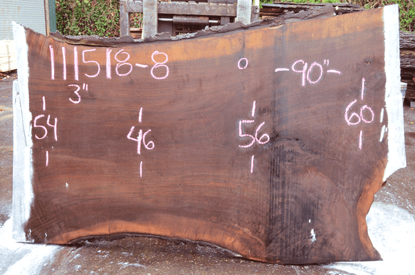 111518-08 Oregon Black Walnut Slab