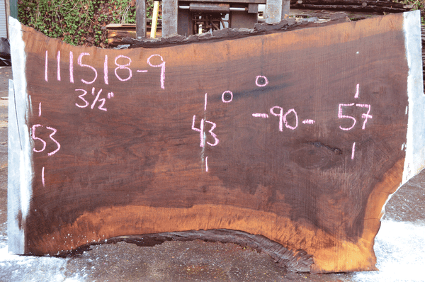111518-09 Oregon Black Walnut Slab