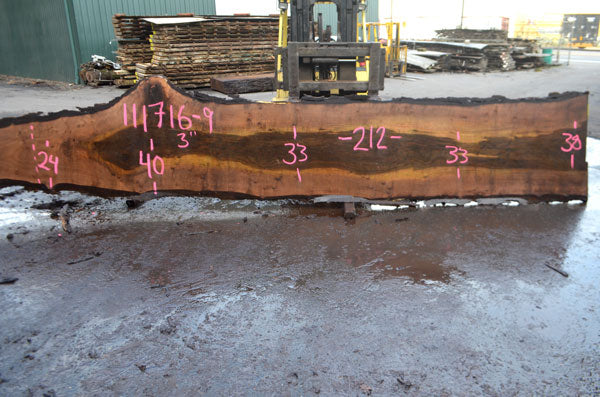 Oregon Black Walnut Slab 111716-09