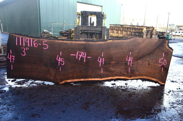 Oregon Black Walnut Slab 111916-05