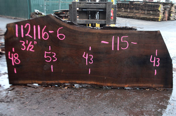 Oregon Black Walnut Slab 112116-06