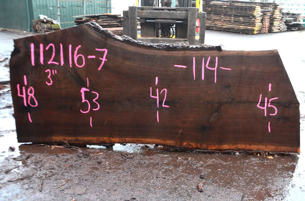 Oregon Black Walnut Slab 112116-07