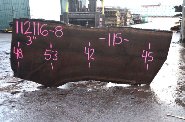 Oregon Black Walnut Slab 112116-08