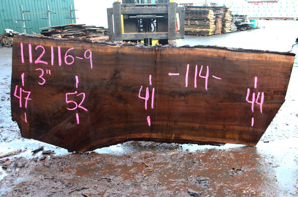Oregon Black Walnut Slab 112116-09