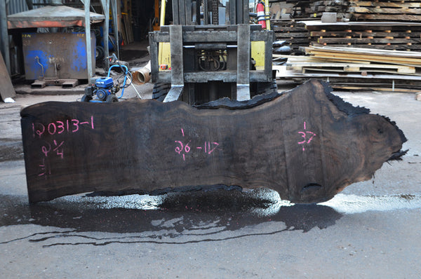 Oregon Black Walnut Slab 120313-01