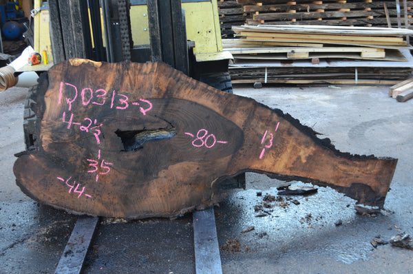 Oregon Black Walnut Slab 120313-02