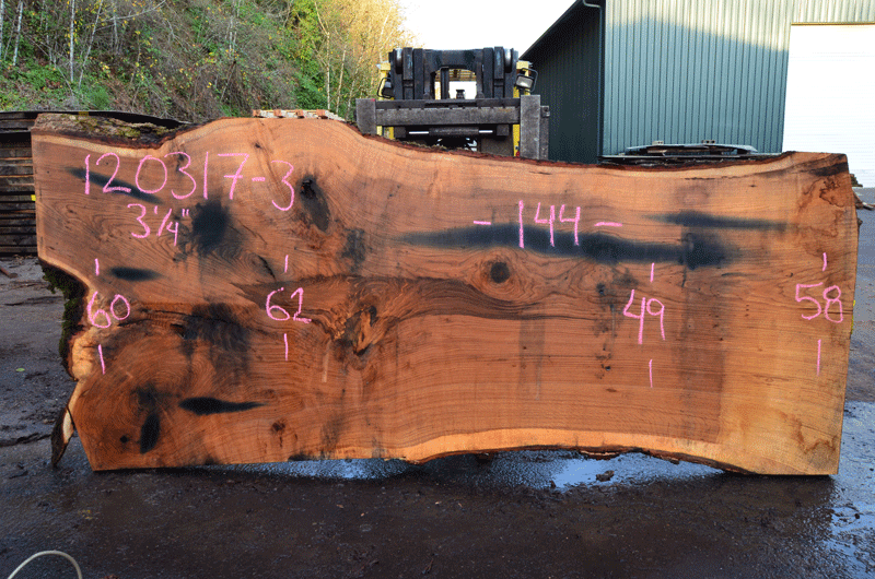 Oregon Red Oak Slab 120317-03