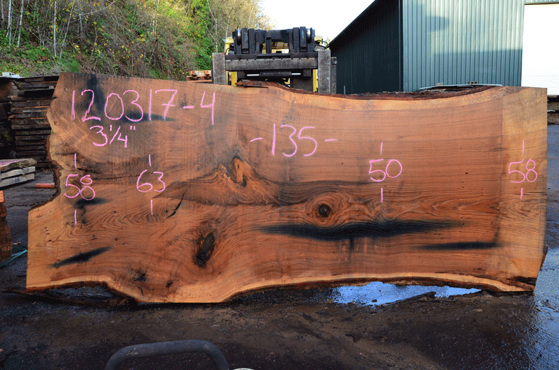 Oregon Red Oak Slab 120317-04