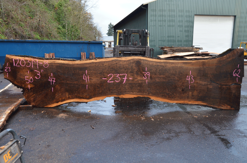 Oregon Black Walnut Slab 120319-08