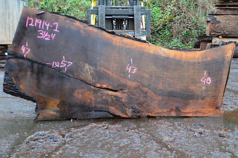 Oregon Black Walnut Slab 121914-01