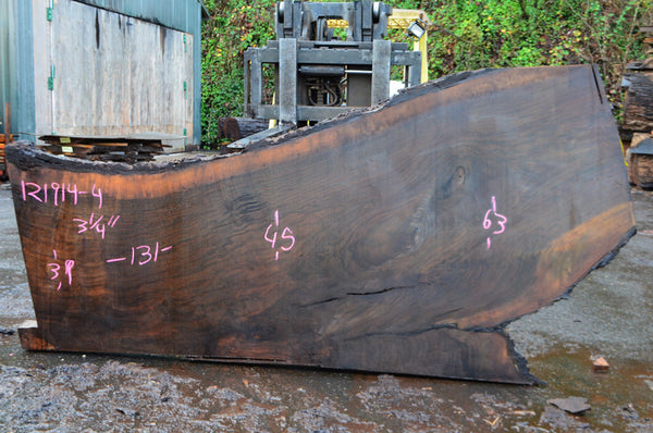 Oregon Black Walnut Slab 121914-04