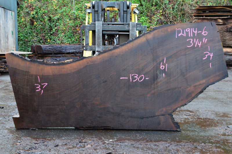 Oregon Black Walnut Slab 121914-06