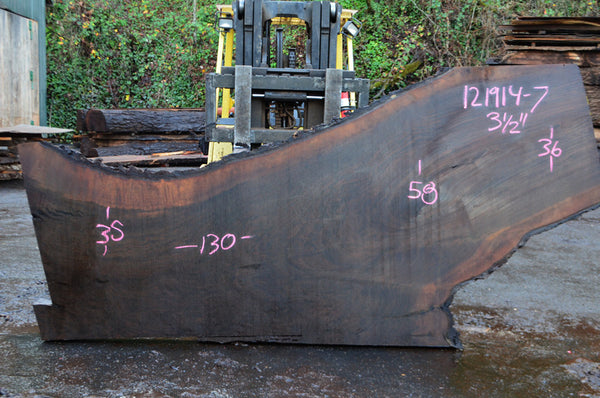 Oregon Black Walnut Slab 121914-07